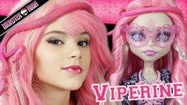 Monster High Viperine Gorgon Doll Makeup Tutorial for Halloween or Cosplay