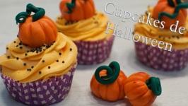 Cupcakes De Halloween - Como Hacer Calabazas De Fondant / Cupcakes Para Halloween