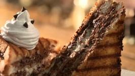 Chocolate Club Sandwich - How To Make Club Sandwiches - Homemade Nutella Club Sandwich