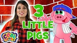 The Three Little Pigs - Chapter 4 - BRAND NEW Story Time with Ms. Booksy - Cartoons for Kids