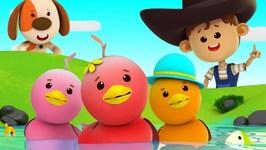 Funny Little Ducks - Five Little Ducks - Little Eddie Cartoons - Videos For Children
