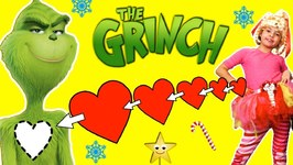 The Grinch Movie Party  PIN THE HEART ON THE GRINCH GAMES, Crafts, Cookies, Candy, Toys