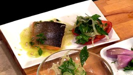 Chef Michael Adams - Arctic Char With Fennel Gremolata And Roasted Lemon Vinaigrette