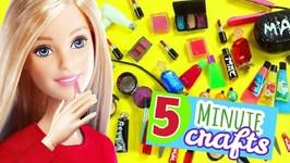 100 DIY Miniature Barbie Dollhouse Makeup Accessories - 5  -  Makeup Lipstick Eyeshadow etc