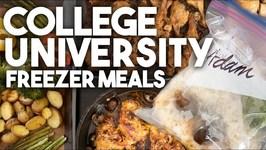 College University Freezer Meals - Meal Prep - Kravings