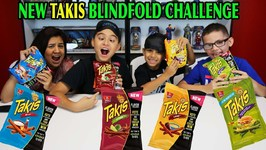NEW TAKIS FLAVORS - BLINDFOLD CHALLENGE - TITAN-WILD-LAVA-ANGRY BURGER