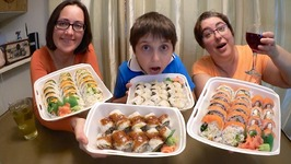 Huge Sushi Extravaganza /Gay Family Mukbang -Eating Show