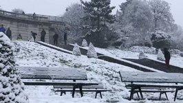Man Skis Down Montmartre as Snow Blankets Paris