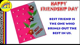 Friendship Day Card Making - How to Make Card for Friend - Happy Friendship Day