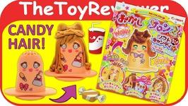 Heart Okashi Na Hair Salon 2 DIY Candy Kit Japanese Kracie Unboxing Toy Review