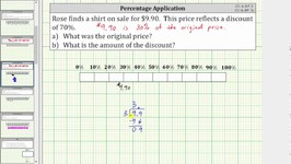 Percent Application - Determine an Original Price Using a Tape Bar Diagram