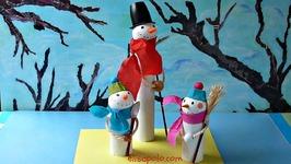 DIY, Manualidades para Navidad Cómo hacer un Muñeco de Nieve, Snowman, Winter Crafts