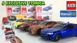 6 Walmart-Exclusive Tomica Die-Cast Cars In The Usa Complete 1st Wave 2019