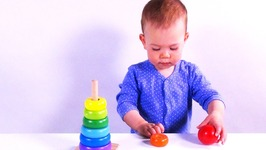 Baby Jessie Color Stacker Toy - Wooden Toy for Kids - Children Learn Colors - Fun Learning Toy