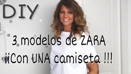 3 camisetas diferentes de ZARA transformando una básica -DIY