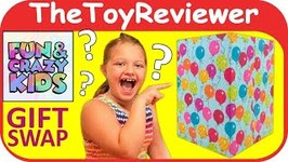 Fun and Crazy Kids Gift Swap Exchange Collab Present Unboxing Toy Review