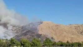 Plane Tacking the Blaine Fire Spotted in Riverside