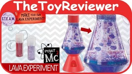 Project Mc2 Lava Lamp Experiment DIY Craft Lip Gloss Light Unboxing Toy Review