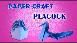 Paper Craft Peacock - How To Make A Paper Peacock - Paper Folding Crafts For Kids