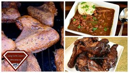 How To Smoke Turkey Wings - Smoked BBQ Turkey Wings - Red Beans And Smoked Turkey