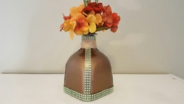 DIY FALL DOLLAR TREE CRAFTS  UPCYCLED BOTTLE
