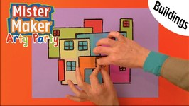 Make A Colourful Building - Arty Party - Mister Maker