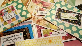 EASY-TO-MAKE CARDS USING SCRAP EMBELLISHMENTS