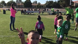 Deion's Soccer Game (lil strikers vs. warriors)
