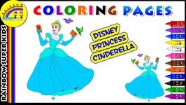 Disney Princess Cinderella Coloring Page
