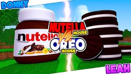 Minecraft NUTELLA CHOCOLATE HOUSE VS OREO CANDY HOUSE - WHICH HOUSE WOULD YOU EAT??