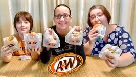 A&W Burgers -Gay Family Mukbang - Eating Show