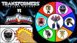Transformers Vs Power Rangers  Slime Wheel Game