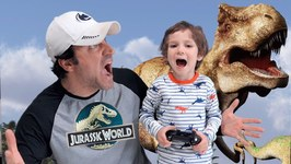 Jurassic World Toys for Kids Video Game - Father & Son Gameplay with Chase and Cole Adventures