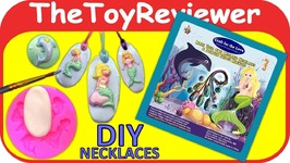 Craft For The Love Make Your Own Mermaid Jewelry Necklaces DIY Unboxing Toy Review