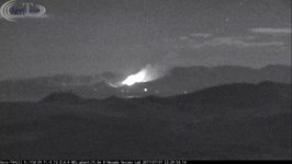 Wildfire Burns in Hills of California's Mono County