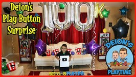 DEION'S PLAY BUTTON SURPRISE - 100K SUBS - DEION'S PLAYTIME
