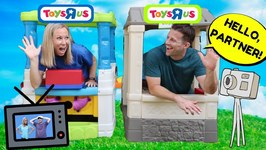 Fake TOYS R US Stores Work Together Then Compete and PRANK !!!