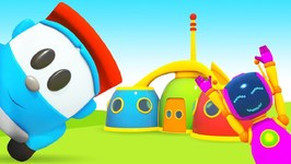 Leo the Truck Cartoon- New Houses for Robots - Learn Colors with Cars and Trucks for Kids