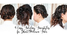 4 Easy Holiday/NYE Updo Hairstyles for Short Hair