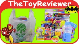 September 2018 Boys Dollar Tree Haul 1 Marvel Batman Plush Unboxing Toy Review by TheToyReviewer