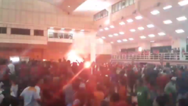 Brawl Erupts as Flare Set Off During Forum With Former Prime Minister