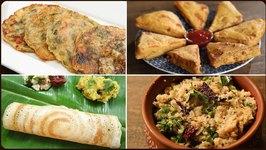 Easy Breakfast Recipes - Bread Omelette - Egg Sandwich - Poha Dosa - Upma - Bread Pakora - Masala Dosa