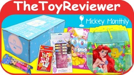 Disney Subscription Box June 2017 Mickey Monthly Original Magic Unboxing Toy Review