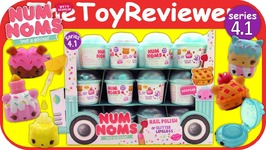 Num Noms Series 4.1 Full Case Box Mystery Packs Blind Bags 4 Unboxing Toy Review