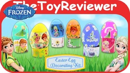 Disney's Frozen Easter Egg Decorating Kit Wrappits Stickers Unboxing Toy Review