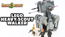 Lego Star Wars Last Jedi First Order Heavy Scout Walker Review Set 75177