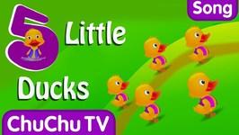 Five Little Ducks Nursery Rhyme With Lyrics - Cartoon Animation Rhymes and Songs for Children