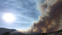 Helicopters Pull Water from Big Bear Lake to Battle Holcomb Fire