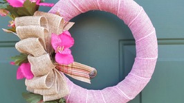 EASY BURLAP WREATH - DIY DOLLAR TREE
