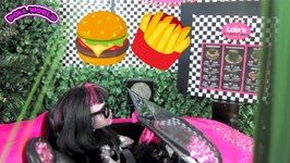 How to Make a Doll Drive Thru Restaurant for Dolls